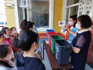 """1116.阳光义工环保志愿者在春光社区开展""""节能宣传周""""活动"""