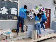 """1168.白桦社区组织延吉市法院志愿者开展清理""""小广告""""文明实践活动"""